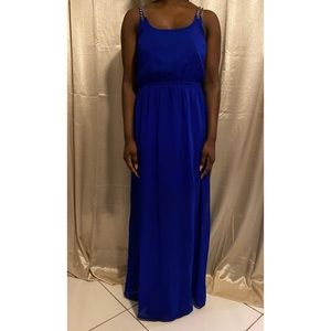Blue Chain Maxi Dress
